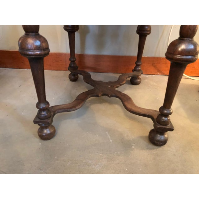 Traditional 19th Century Traditional William & Mary Revival English Oak Table with Drawer For Sale - Image 3 of 12