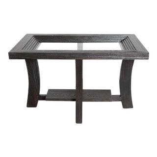 Post Art Deco Cerused Oak Side Table by Brown Saltman Paul Frankl For Sale