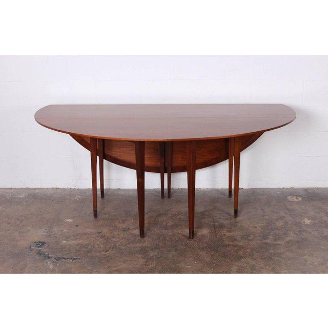 Walnut Drop-Leaf Console Table by Edward Wormley for Dunbar For Sale In Dallas - Image 6 of 11