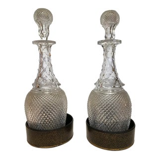 Late 19th Century Cut Glass Decanters - a Pair For Sale