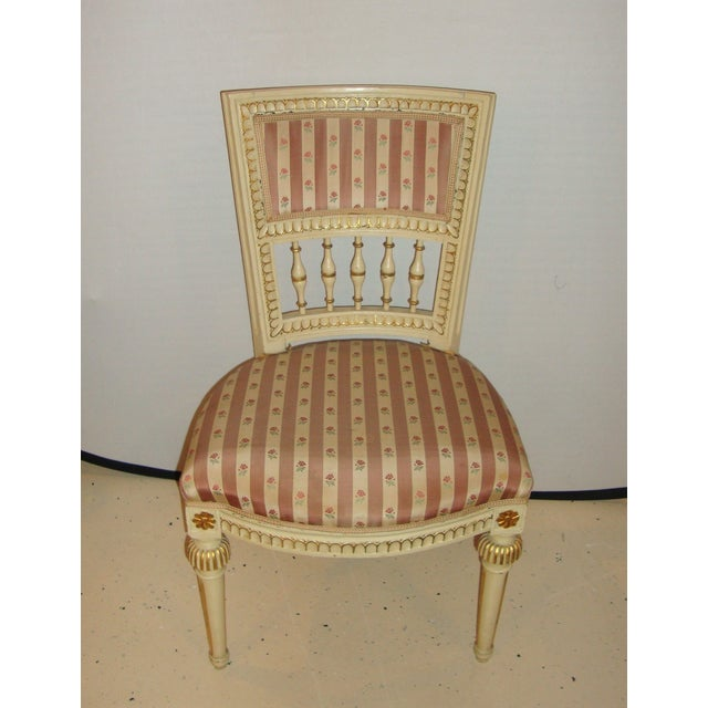 French Jansen Style Side Chairs - Pair For Sale - Image 3 of 10