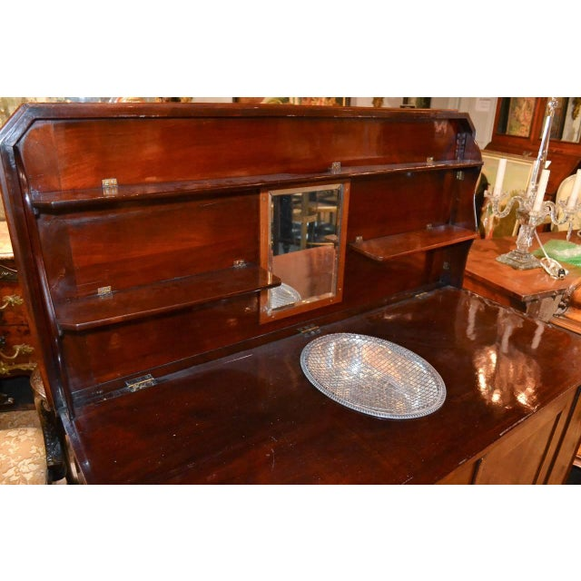 Very Fine English Inlaid Server / Bar For Sale - Image 9 of 10