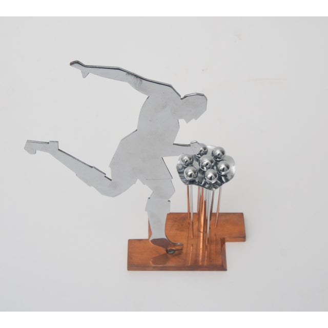 Art Deco Stylized Soccer Player Cocktail Picks For Sale In West Palm - Image 6 of 6