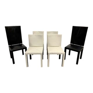 Paolo Piva Arcadia Leather Dining Chairs for B&b Italia - Set of 6 For Sale