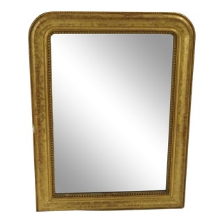 1800's Medium French Louis Philippe Mirror in Gold Leaf