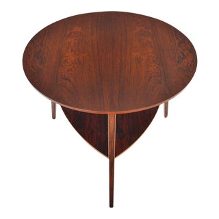 Danish Modern Round Brazilian Rosewood Side Table For Sale