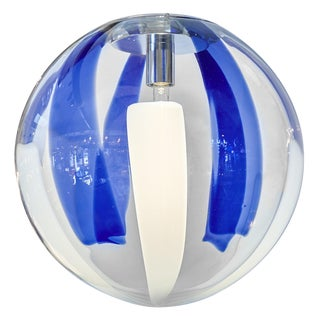 Murano Glass Cobalt Sphere Chandelier For Sale