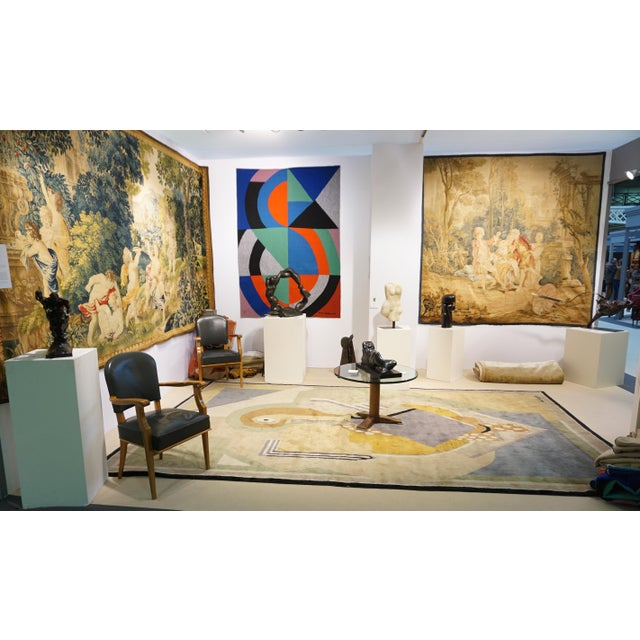 Boccara Boccara Limited Edition Artistic Handmade Wool Rug After Albert Gleizes - N.35 For Sale - Image 4 of 6
