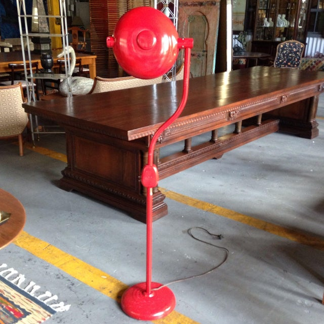 Red Industrial Floor Lamp - Image 3 of 8