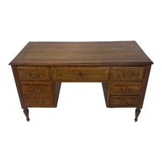 19thc Neoclassical Italian Partners Desk For Sale