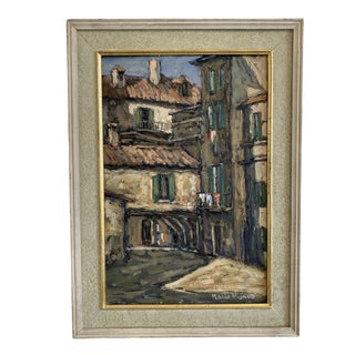 Tuscan Italian School Oil Painting on Canvas - Early 20th C For Sale