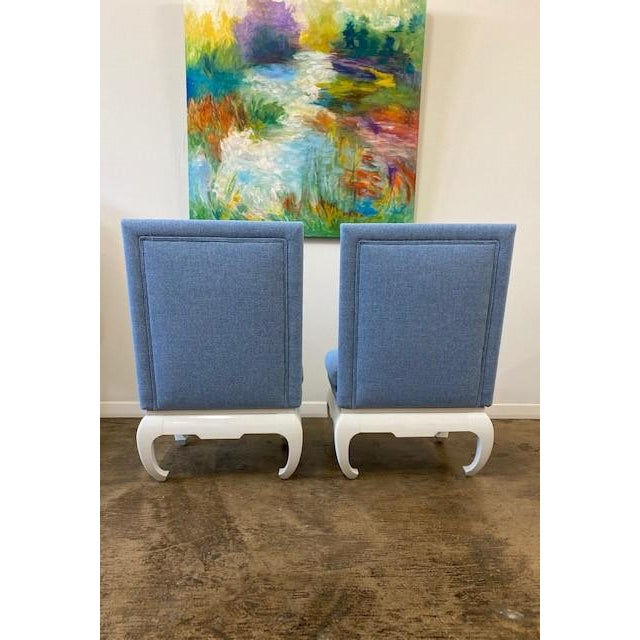James Mont James Mont Style Chairs- a Pair For Sale - Image 4 of 6