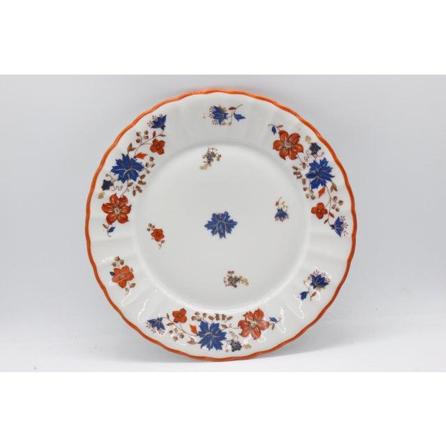 Edwardian Antique German Porcelain Floral Dessert or Salad Plates - Set of 4 For Sale - Image 3 of 9
