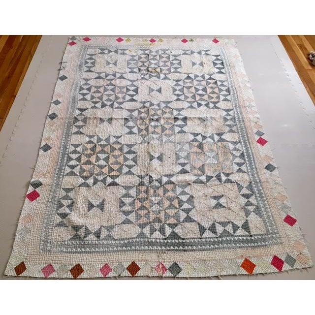 Vintage Handmade Ralli Quilt - Image 3 of 11