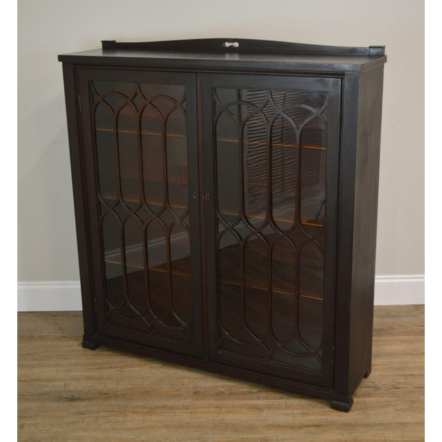 Gothic Antique Gothic Inspired Mahogany 2 Door Bookcase For Sale - Image 3 of 12