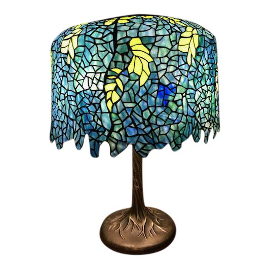Tiffany style wisteria table lamp chairish tiffany style wisteria table lamp aloadofball Choice Image
