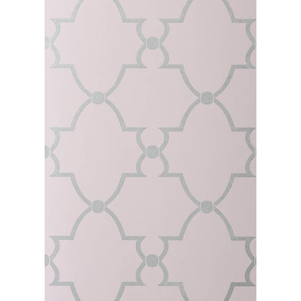 Trellis Patterned Wallpaper - Lilac - Image 1 of 2