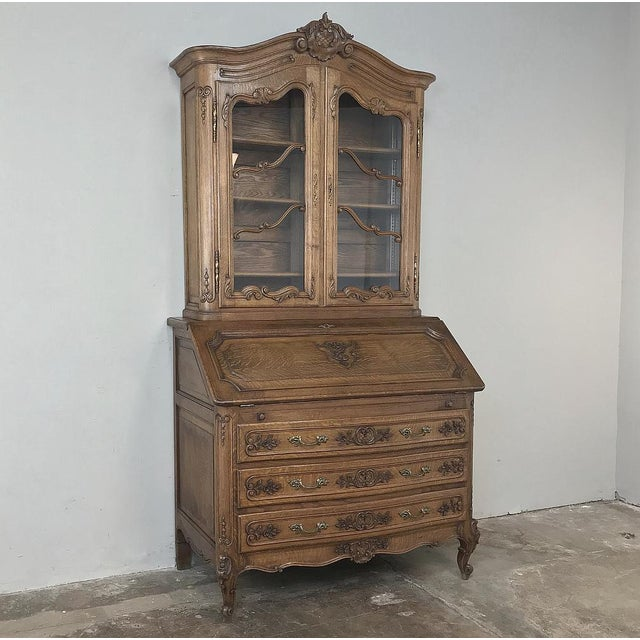 French Antique Country French Secretary ~ Bookcase For Sale - Image 3 of 13