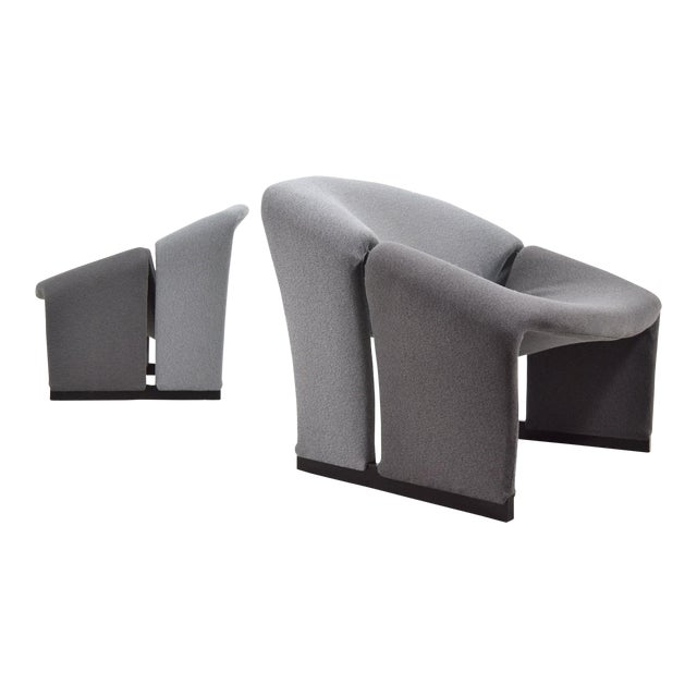 Pair of Pierre Paulin Model F580 Lounge Chairs by Artifort For Sale