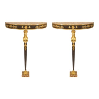 19th Century French Empire Bracket Consoles - a Pair For Sale