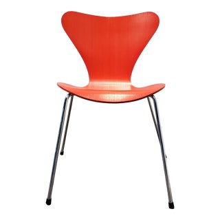 Arne Jacobsen Red Series 7 Chair for Fritz Hansen, Denmark 1996 For Sale