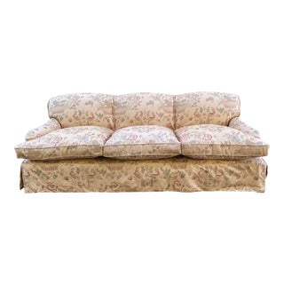 George Smith Signature Standard Arm Sofa With Slipcover For Sale