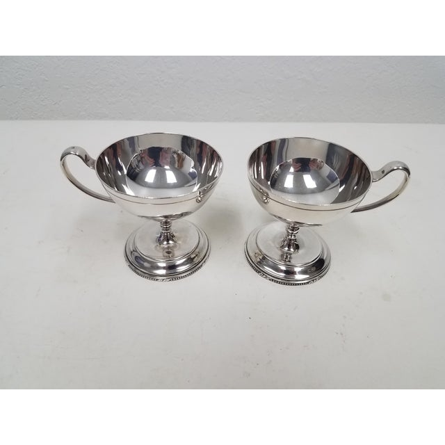 Antique English Mappin and Webb Silverplate Sorbet Dessert Cups - Pair Mappin & Webb traces its origins to 1775, when...