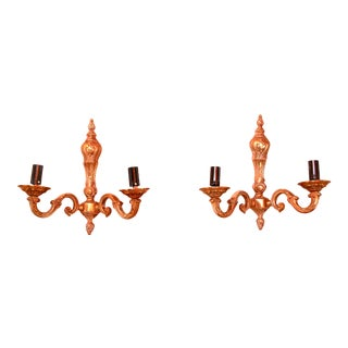 1940 Neoclassical Bronze Sconces, France - a Pair For Sale