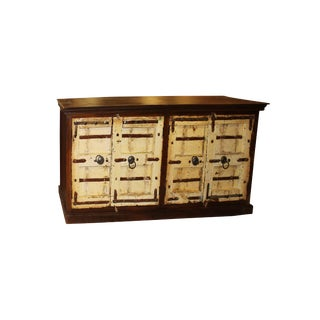Antique Handcrafted Solid Wooden Sideboard For Sale