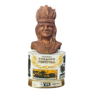 Vintage Jim Beam Native American Kentucky Bourbon Collector's Decanter For Sale