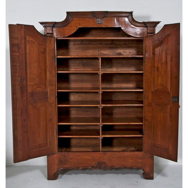 19th Century Walnut Italian Armoire For Sale - Image 9 of 9