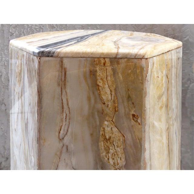 Modern Octagonal Marble Pedestal - Image 4 of 8