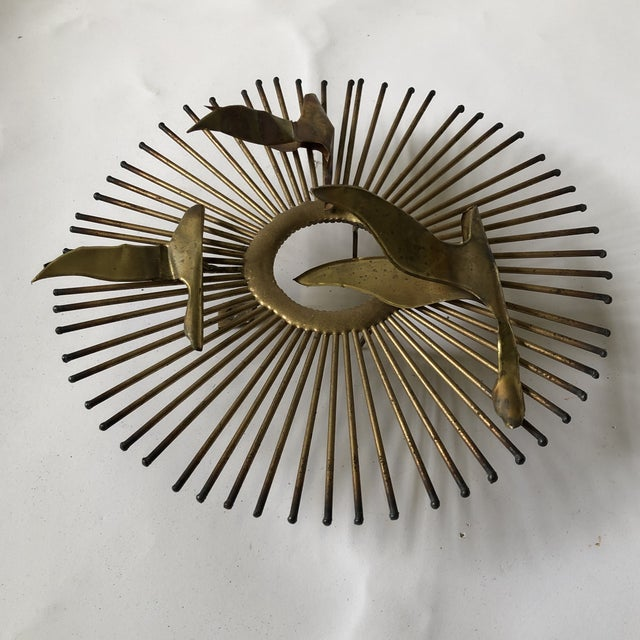 1960s Mid Century Brass Sunburst Jere Style Sculpture For Sale - Image 5 of 10