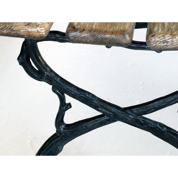 Mid 19th Century A Long & Well-Crafted French Art Nouveau Pine Garden Bench For Sale - Image 5 of 5