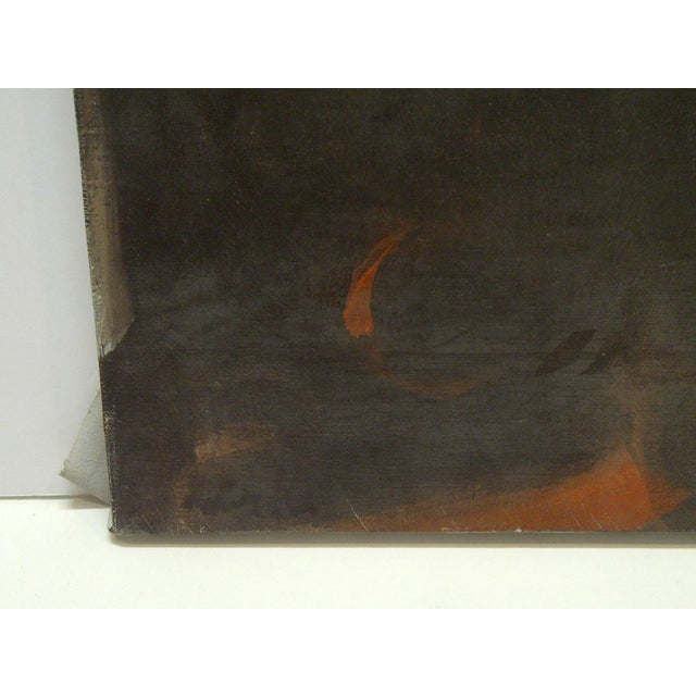 "Late 20th Century 20th Century Contemporary Original Framed Painting on Canvas, ""Flowing Red"" by Frederick McDuff For Sale - Image 5 of 8"