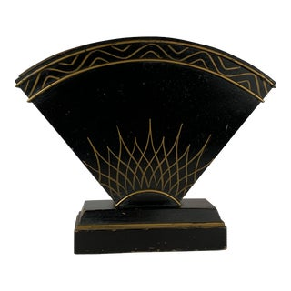 Early 20th Century Art Deco Copper Lined Tole Planter For Sale