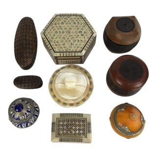 Assorted Handmade Decorative Boxes - Set of 9