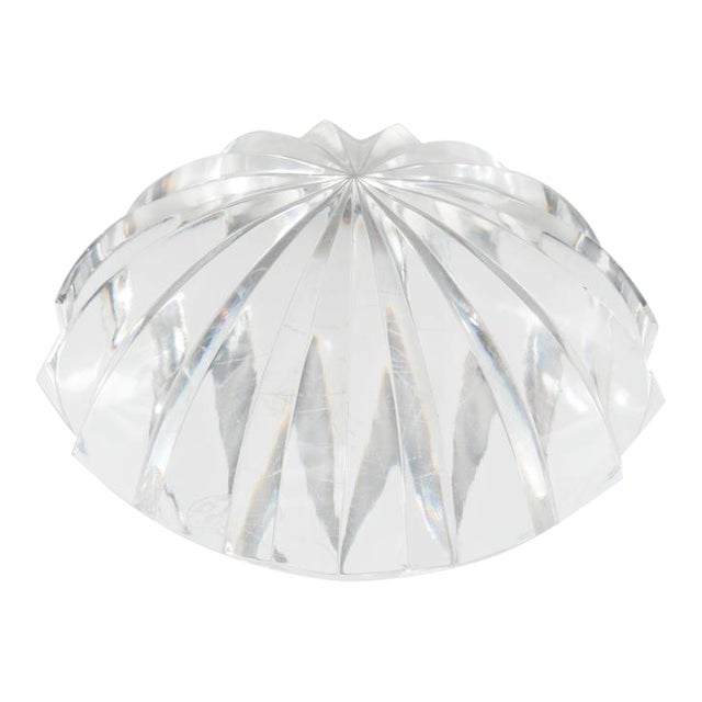 Baccarat Radial Faceted Paperweight or Objet D'Art For Sale