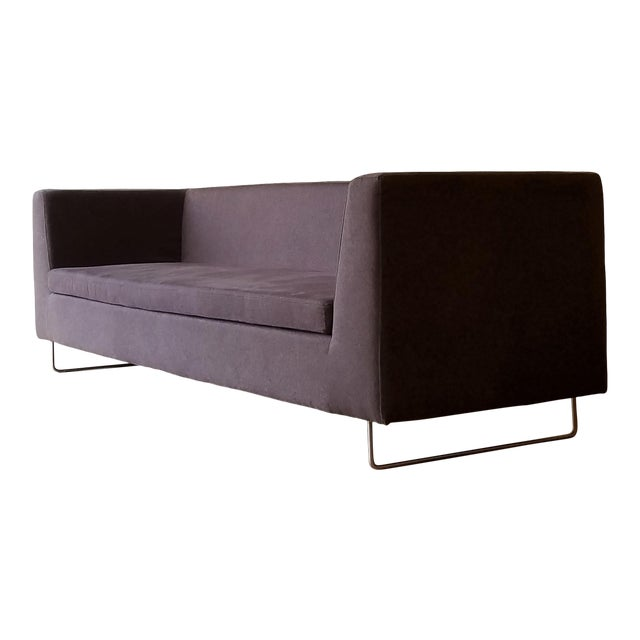 Contemporary Blu Dot Bonnie Sofa in Conduit Charcoal For Sale
