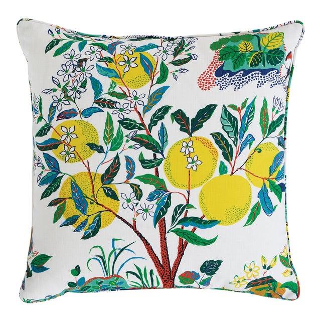 Schumacher Citrus Garden Indoor/Outdoor Pillow For Sale
