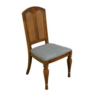 Late 20th Century Vintage Stanley Furniture Cane Back Dining Side Chair For Sale