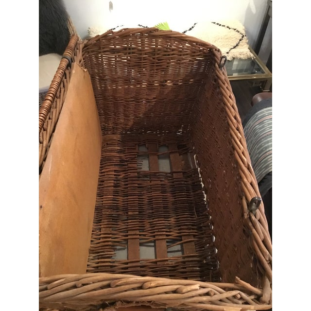 20th Century French Woven Wicker Basket For Sale - Image 12 of 13