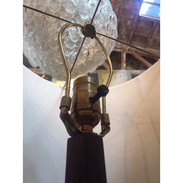"Pair of Macassar Ebony Floor Lamp. With Shades 64"" Tall legs 18"" in diameter"