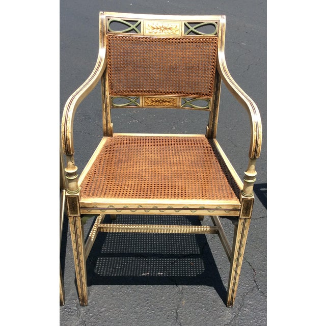 Wicker 1920s French Country Wicker Dining Chairs - Set of 6 For Sale - Image 7 of 13
