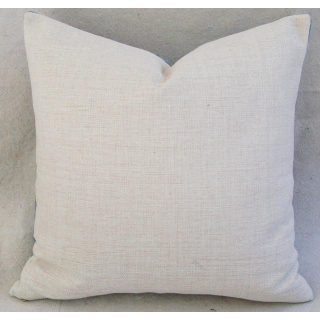 """Chic Van Gogh Inspired Cherry Blossom Linen Feather/Down Accent Pillow 17"""" - Image 4 of 6"""