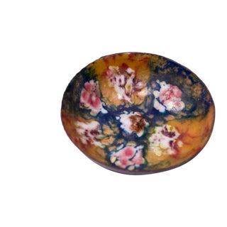 Small Vintage Spanish Enamel on Copper Dish by Esmaltes Garcia For Sale