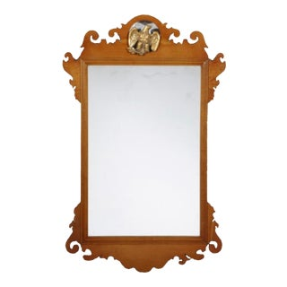 Antique Chippendale American Federal Mirror For Sale