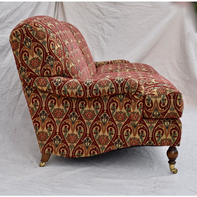 English Traditional Brunschwig & Fils English Sherwood Sofa on Casters For Sale - Image 3 of 10