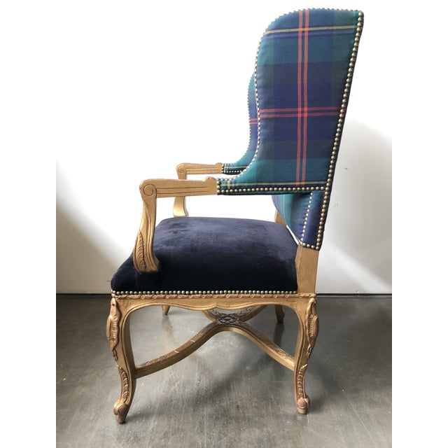 Rococo Ralph Lauren Home Spencer Chair For Sale - Image 3 of 12