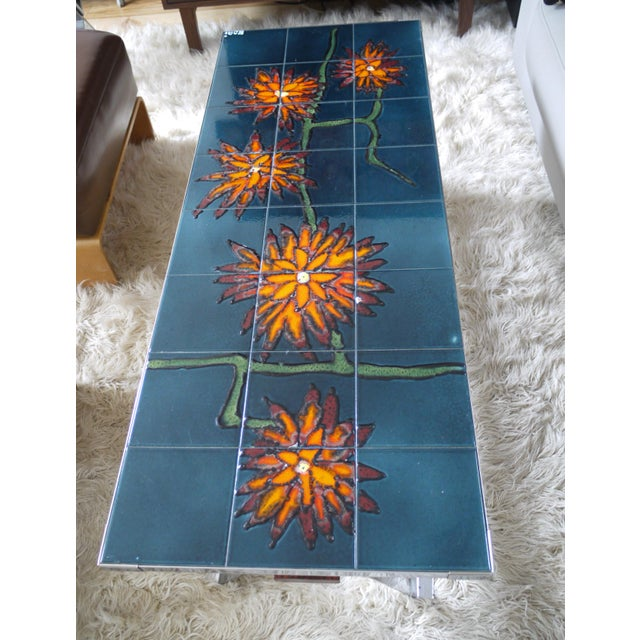 1960s Bold Vallauris Tile Low Table For Sale - Image 4 of 11